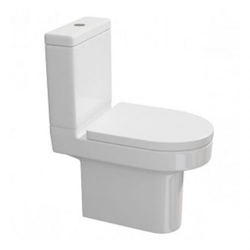 Kartell Code Close Coupled Toilet - Cistern - Soft Close Seat - White
